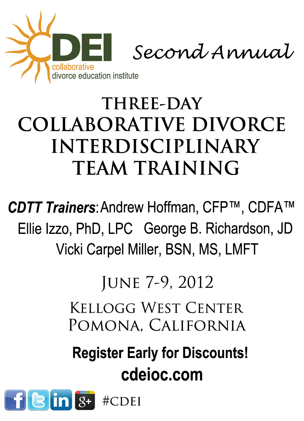 Collaborative Teaching Courses : The collaborative divorce education institute is offering