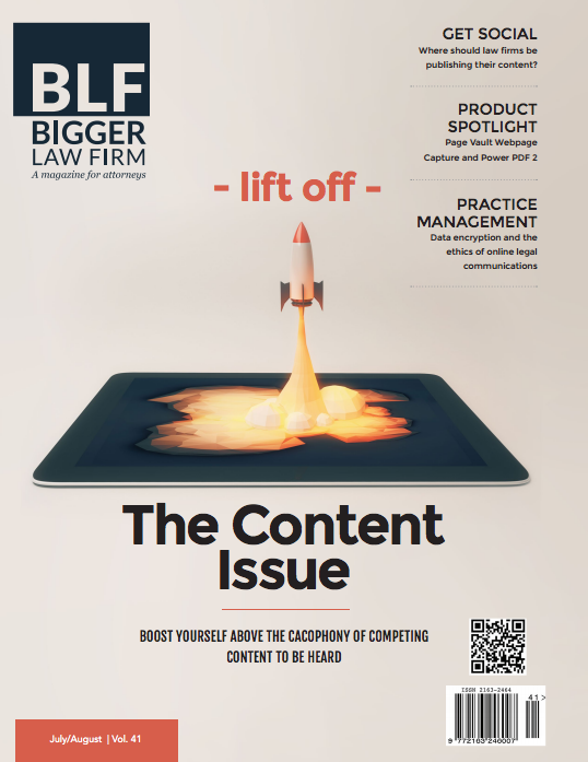 Read the latest issue of Bigger Law Firm Magazine.