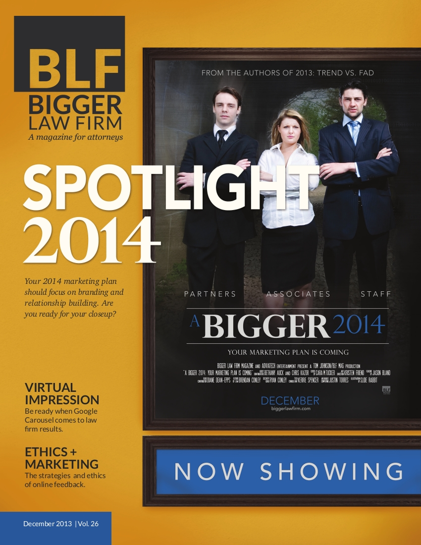 "Download ""A Bigger 2014"", the Free December issue of the Bigger Law Firm magazine"