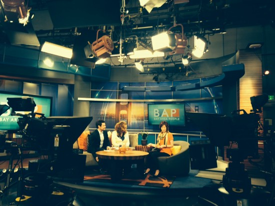 "Attorney Mark Gilfix on the set of KTVU's ""Bay Area People"""