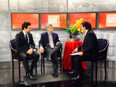 "Mark Gilfix (Left) and Michael Gilfix (Right) appear on NBC's ""Asian Pacific America with Robert Handa"""