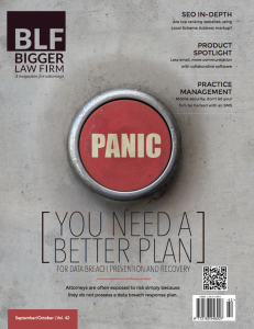 Latest Bigger Law Firm Magazine focuses on digital security.